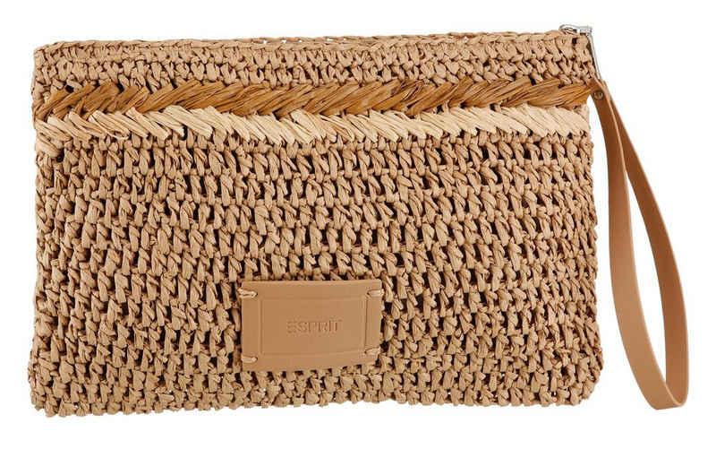 Esprit Clutch, aus geflochtenem Papierbast