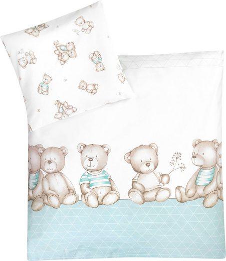 Kinderbettwäsche »Bärenland mint«, Zöllner, mit Bären