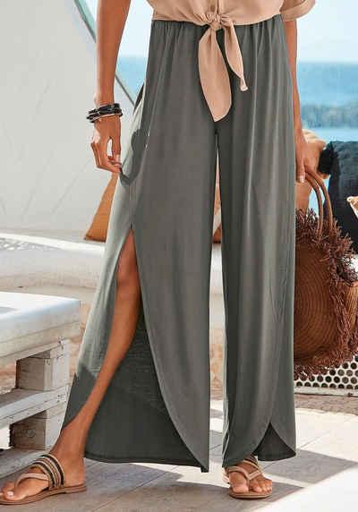 LASCANA Jerseyhose mit Schlitzen vorne