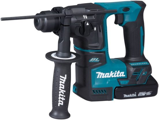 Makita Akku-Bohrhammer »DHR171RAJ«, max. 680 U/min, 18 V, SDS+, inkl. 2 Akkus & Ladegerät