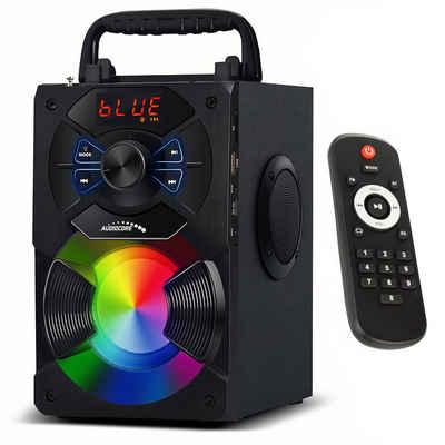 Audiocore AC730 Bluetooth-Lautsprecher (11 W, inkl. Fernbedienung, Equalizer, Mikrofon, USB, AUX, MicroSD, FM Radio)