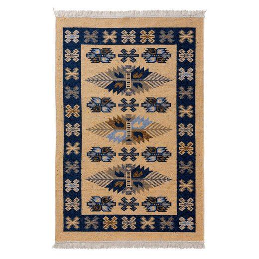 Teppich »Tulum 9910«, Sehrazat, rechteckig, Höhe 5 mm, Wendeteppich, waschbar