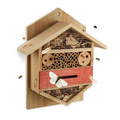 relaxdays Insektenhotel »Insektenhotel natur sechseckig«