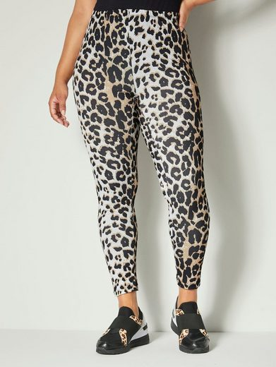 Angel of Style by Happy Size Leggings mit Animaldessin