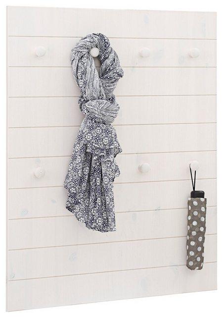 Garderobenleisten und Haken - Home affaire Garderobenpaneel »Ella«, aus schönem massivem Kiefernholz, mit 8 Haken, Breite 65 cm  - Onlineshop OTTO