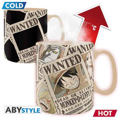 ABYstyle Tasse »ONE PIECE - Wanted - Thermoeffekt Tasse - Farbwechsel bei Wärme«