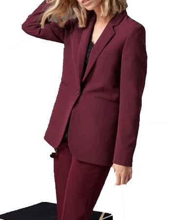 GUIDO MARIA KRETSCHMER Kurzblazer »GUIDO MARIA KRETSCHMER Blazer eleganter Damen Sakko Kurz-Jacke mit Reverskragen und Paspeltaschen Bordeaux«