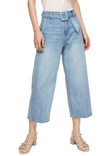 s.Oliver 3/4-Jeans (2-tlg., mit Gürtel) im trendigen Culotte-Stil