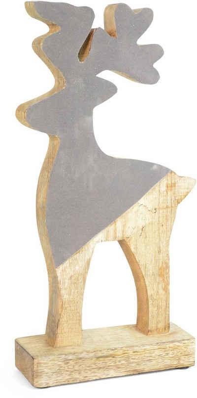Tierfigur »Hirsch mit Samt« (1 Stück), Höhe ca. 33 cm