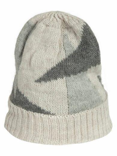 Apart Schal aus Strick in grau-beige