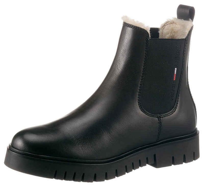 Tommy Jeans »WARMLINED CHELSEA BOOT« Chelseaboots mit Lasche zum Anziehen