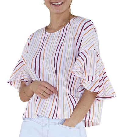 Drykorn Shirtbluse »DRYKORN Blusen-Shirt gestreifte Damen Sommer-Bluse Sommer-Bluse Weiß/Bunt«