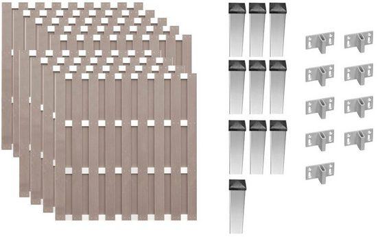 T&J Bohlenzaun »Jersey 7«, (Set), 9 Elemente, LxH: 1690x180 cm