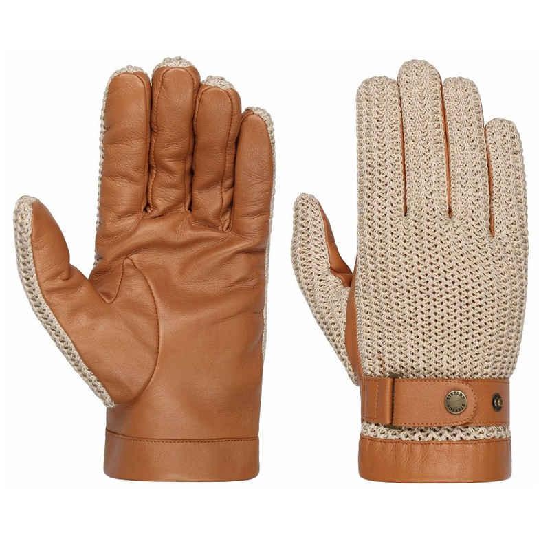 Stetson Lederhandschuhe »Stetson Gloves Sheep Nappa & Knit Braun«