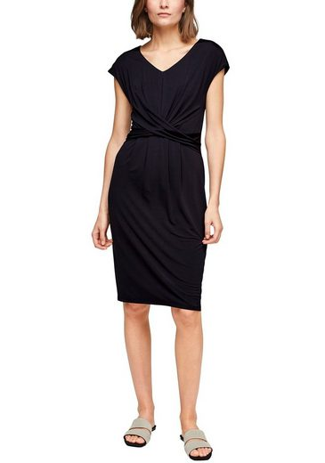 s.Oliver BLACK LABEL Jerseykleid mit Knoten-Element