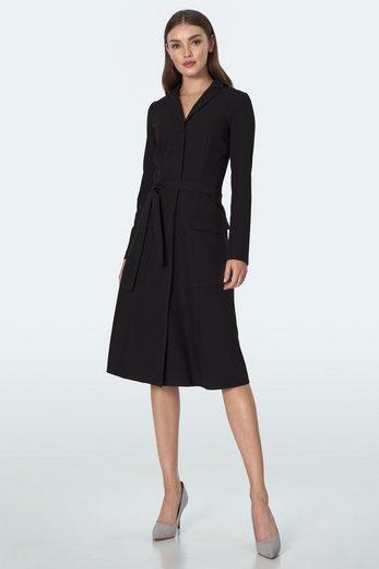 nife Jerseykleid mit klassischem Reverskragen