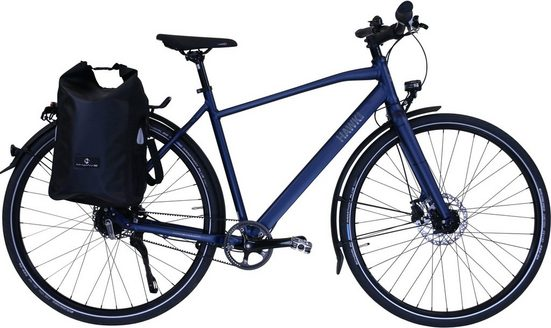 HAWK Bikes Trekkingrad »HAWK Trekking Gent Super Deluxe Plus Ocean Blue«, 8 Gang Shimano Nexus Schaltwerk