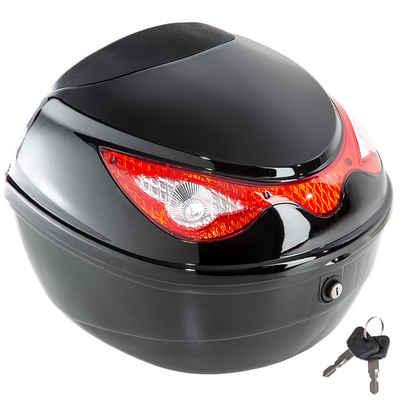 tectake Topcase »Motorradkoffer mit extragroßem Reflektor -«, 0 Rollen