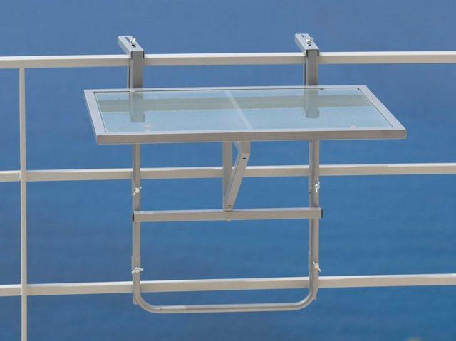 MERXX Balkonhängetisch Stahl/Glas| klappbar | Garten > Balkon > Balkontische | MERXX