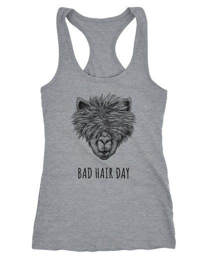 Nie Mehr Einen Bad Hair Day: MoonWorks Tanktop »Damen Tanktop Lustig Strubbelig