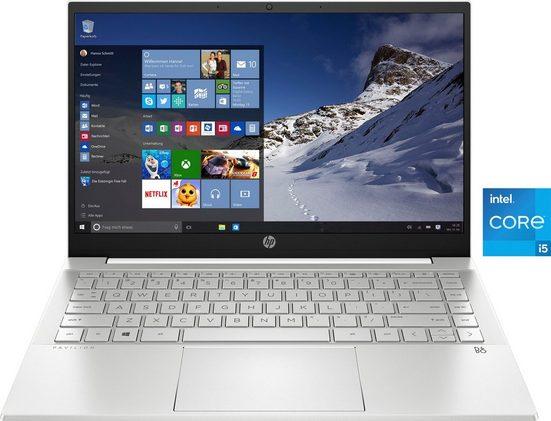 HP 14-dv0052ng Notebook (35,6 cm/14 Zoll, Intel Core i5, Iris© Xe Graphics, 512 GB SSD, Kostenloses Upgrade auf Windows 11, sobald verfügbar)