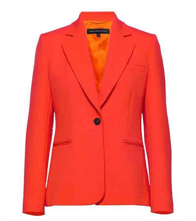French Connection Kurzblazer »French Connection Adisa Sakko farbenfroher Damen Blazer mit Reverskragen Jackett Orange-Rot«