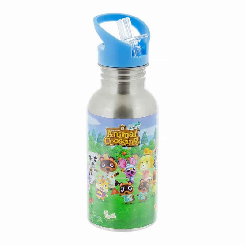 Paladone Tasse »Animal Crossing Trinkflasche mit Trinkhalm«, Metall