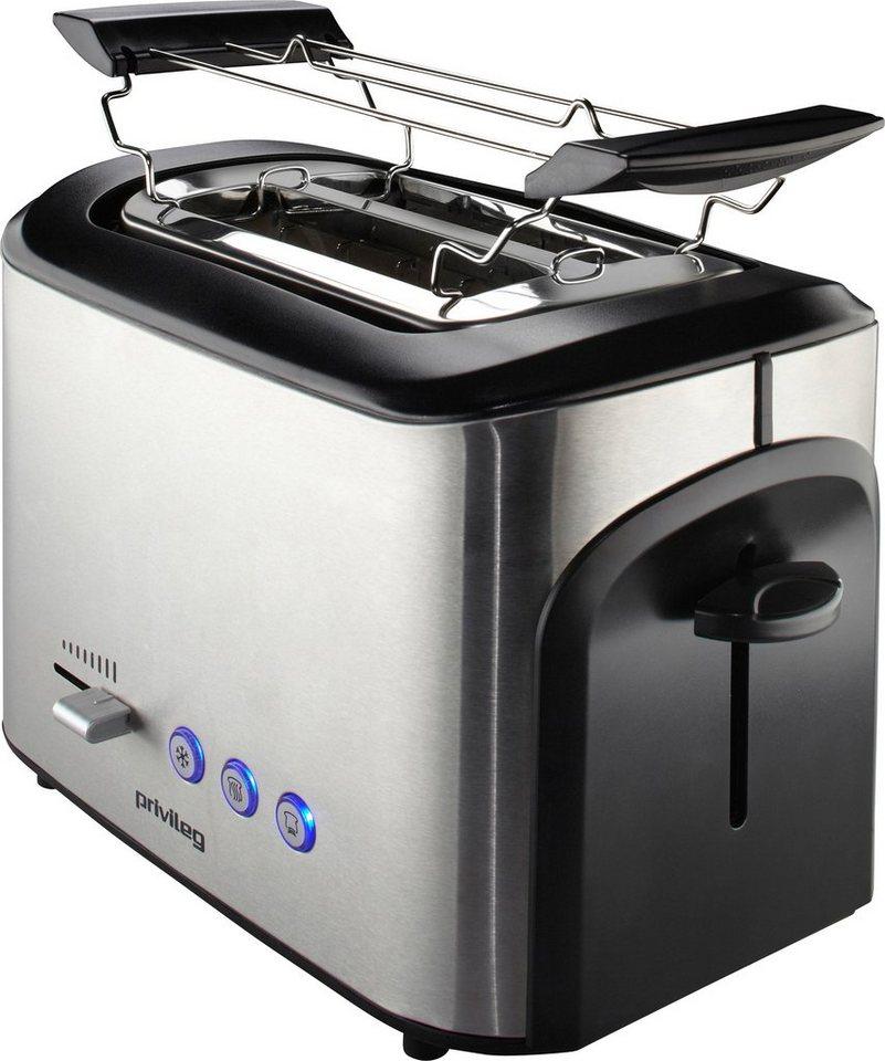 privileg toaster in edelstahl f r 2 scheiben 800 w mit. Black Bedroom Furniture Sets. Home Design Ideas