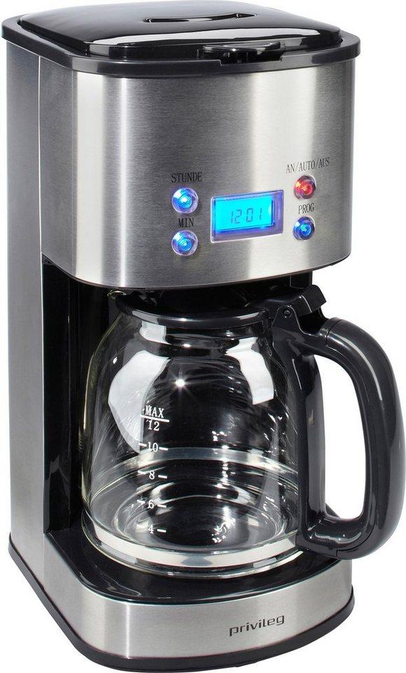 privileg kaffeemaschine f r 1 5 liter 1000 watt edelstahl online kaufen otto. Black Bedroom Furniture Sets. Home Design Ideas