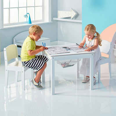 WORLDS APART Kindersitzgruppe »Kindersitzgruppe de Luxe, 3-tlg., weiß lackiert«