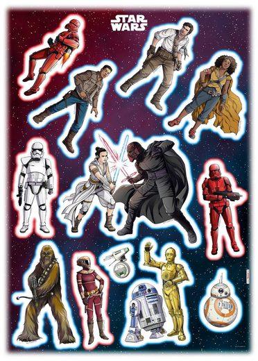 KOMAR Wandtattoo »Star Wars Heroes Villains«, selbsthaftend, rückstandslos abziehbar