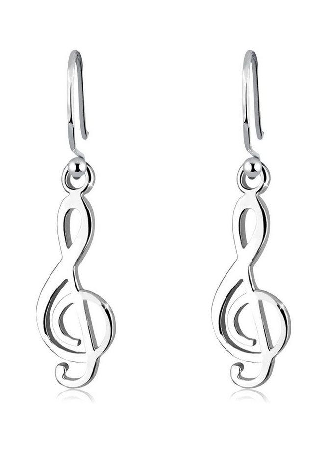 Elli Ohrringe »Notenschlüssel« in Silber