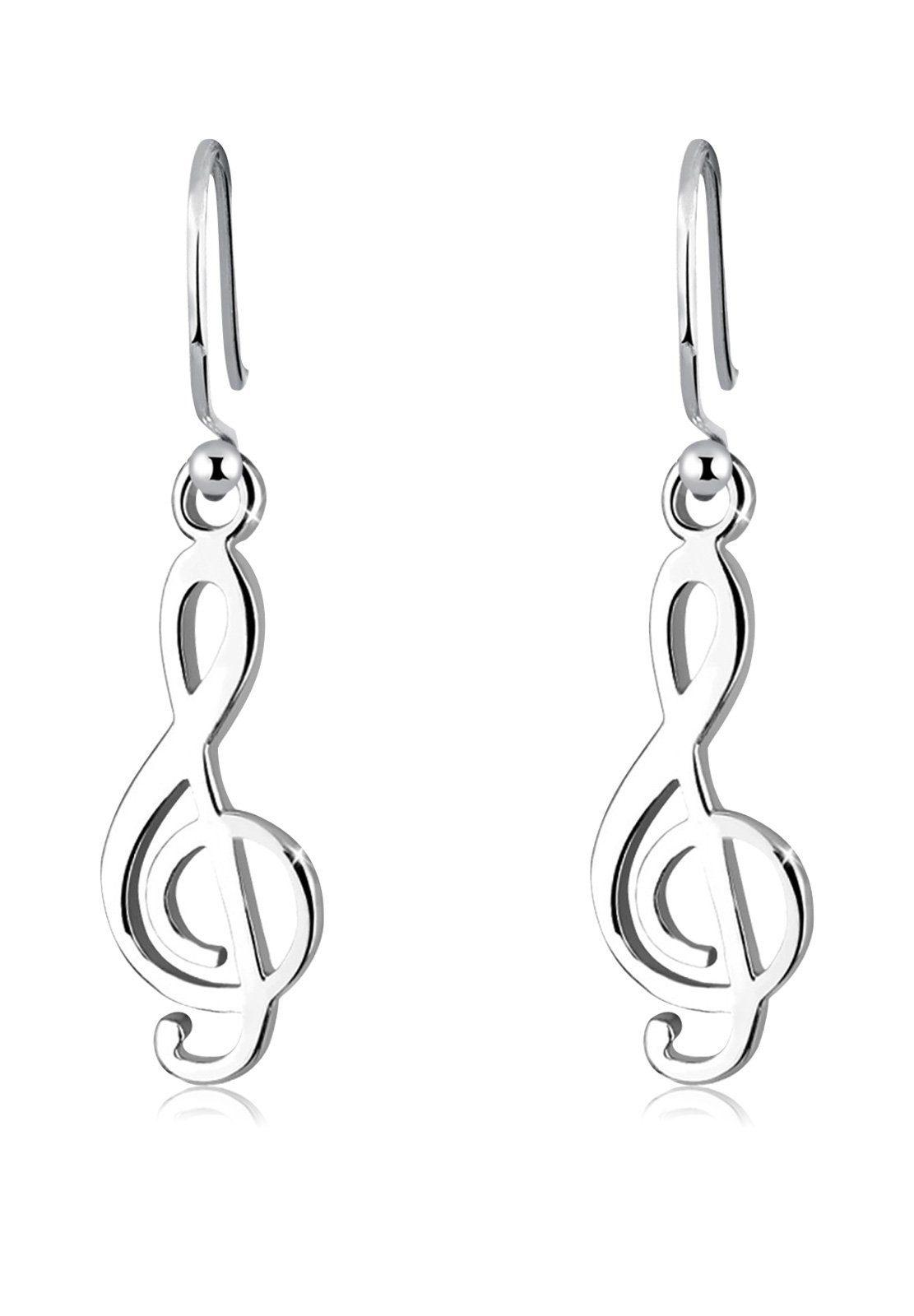 Elli Ohrringe »Notenschlüssel Musik Melodie Note 925 Silber«