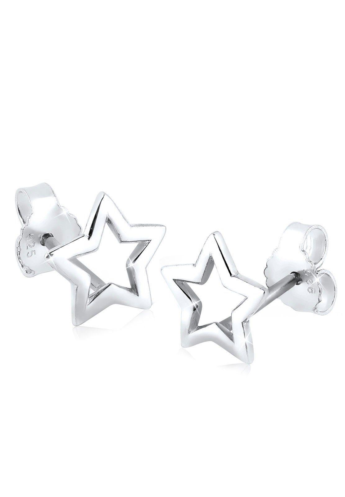 Elli Ohrringe »Stern Trend Astro Basic 925 Silber«