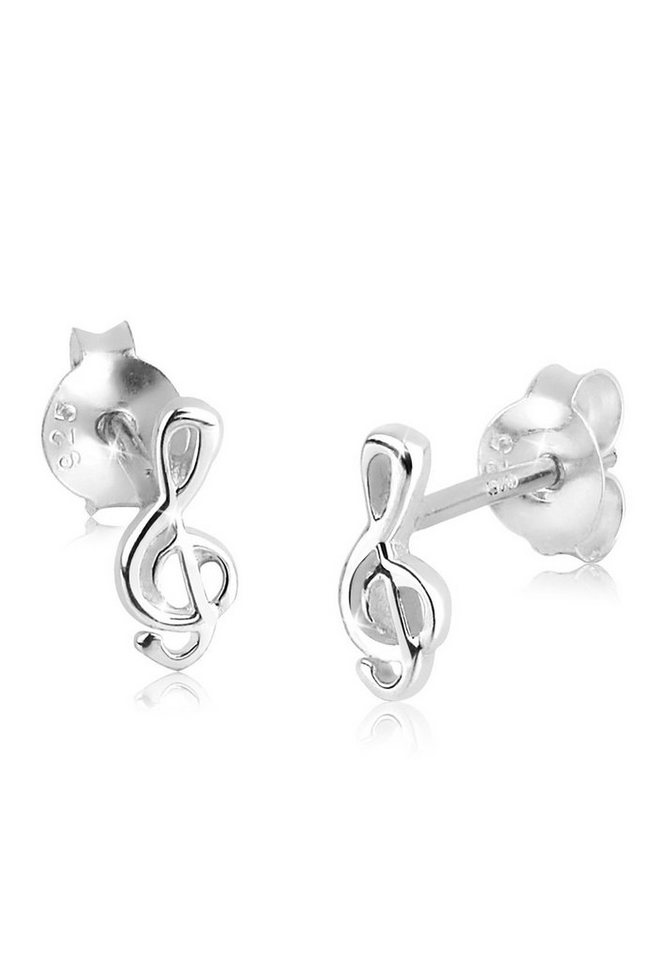 Elli Ohrringe »Notenschlüssel Filigran Musik Verspielt 925 Silber« in Silber