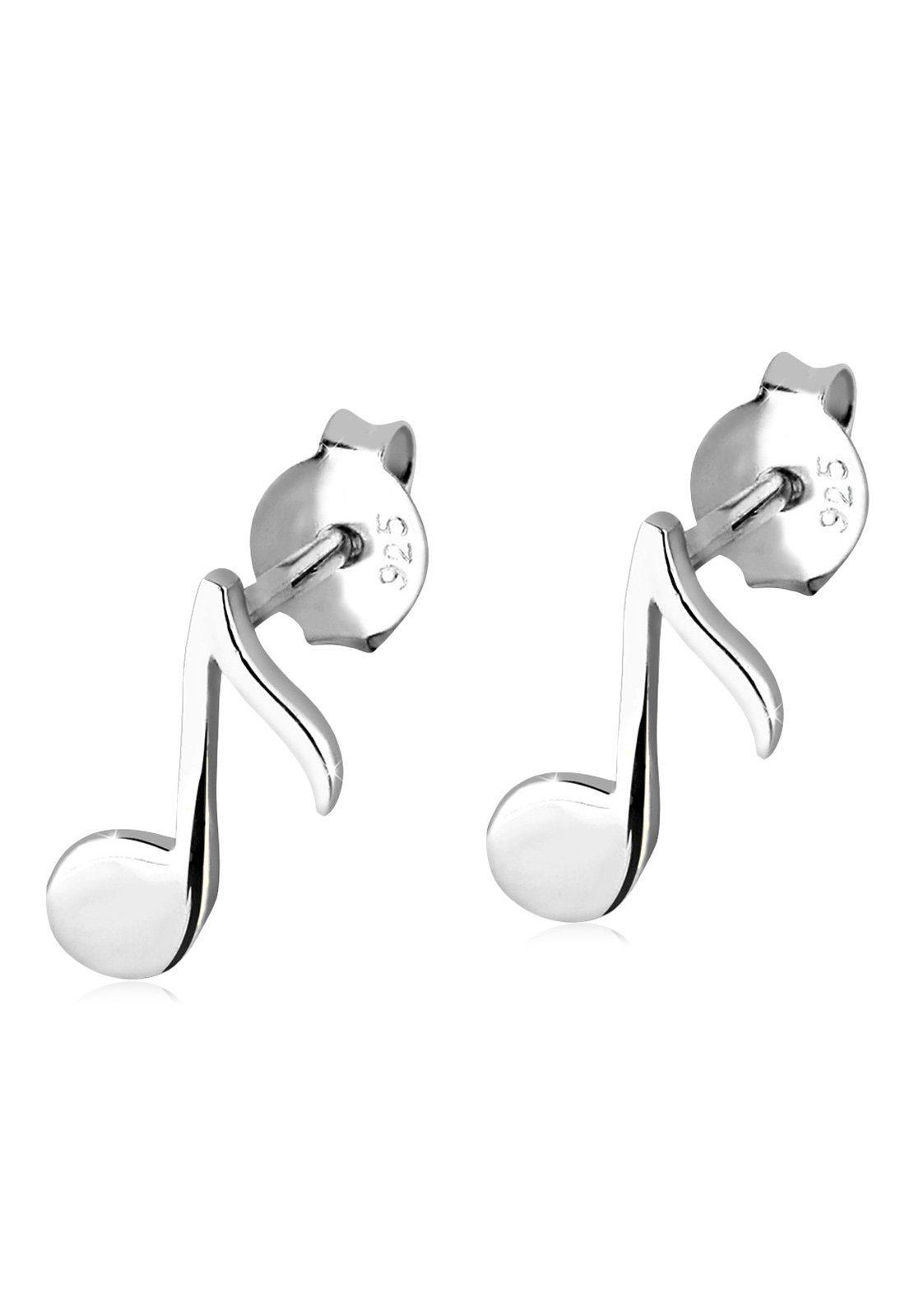Elli Ohrringe »Note Musik Musiknote Filigran 925 Silber«