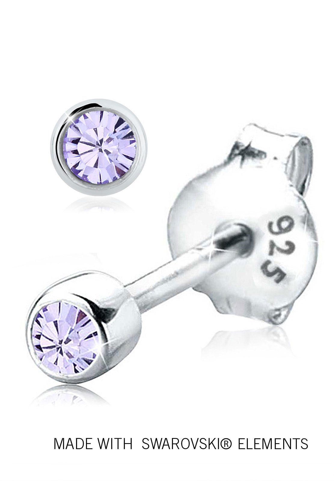 Elli Ohrringe »Basic Swarovski® Kristalle Funkelnd 925 Silber«