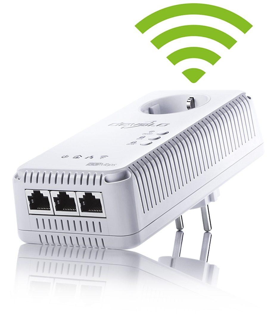 DEVOLO Powerline + WLAN »dLAN 500 AV Wireless+ (500Mbit, 3xLAN, Netzwerk)«