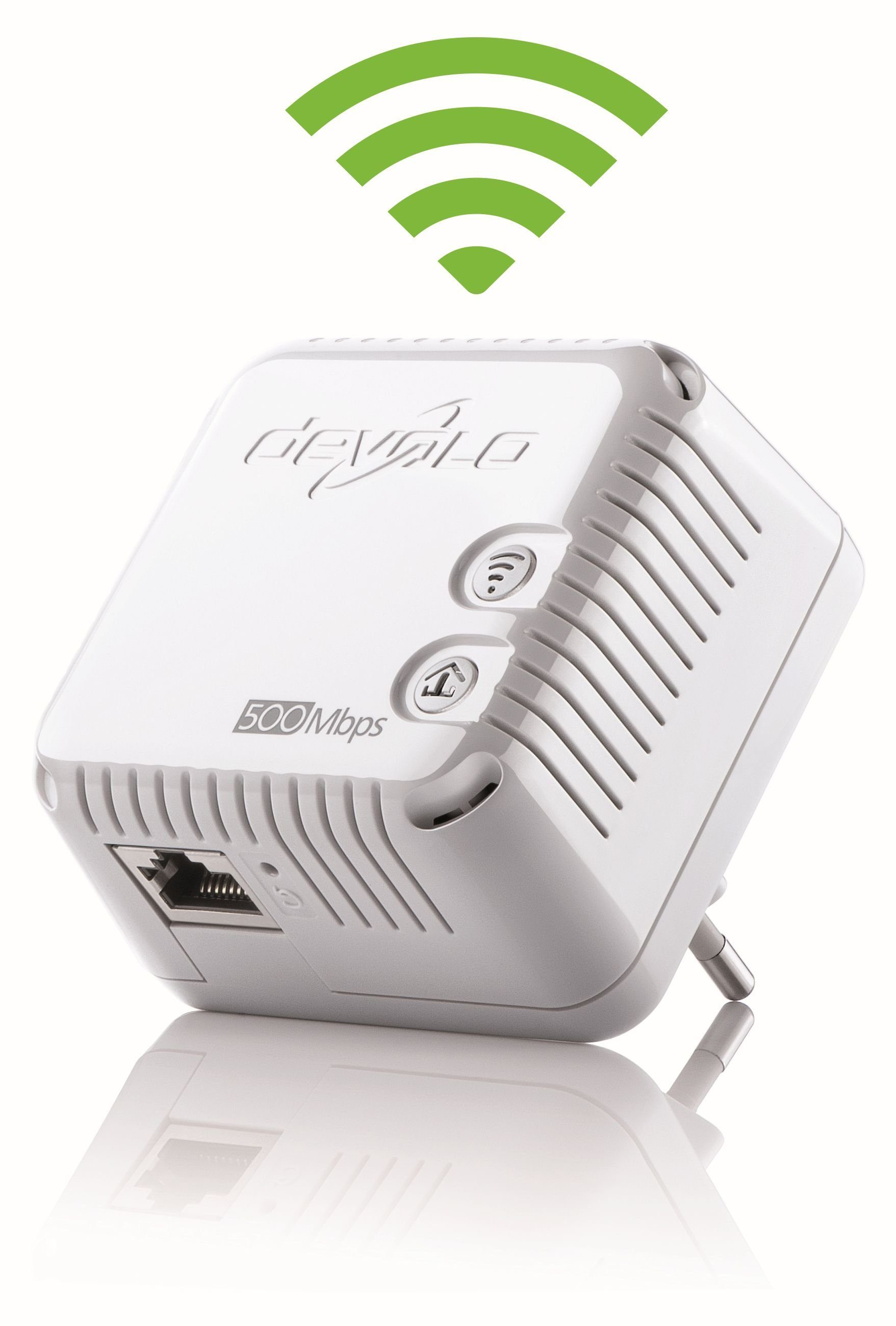 DEVOLO dLAN 500 WiFi »Powerline + WLAN 500Mbit, 1xLAN, WLAN Repeater«