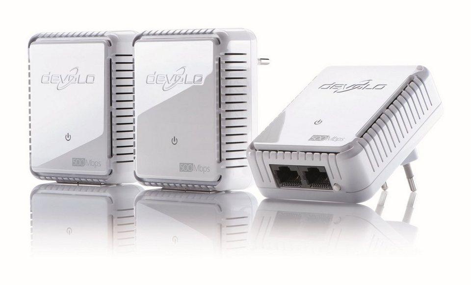 DEVOLO Powerline »dLAN 500 duo Kit (500Mbit, 2xLAN, Netzwerk)« in weiß