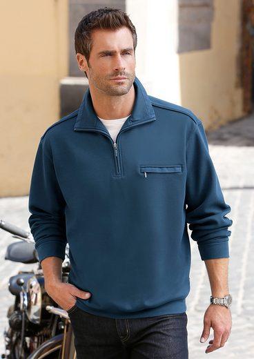 Hajo Sweatshirt mit Reißverschluss