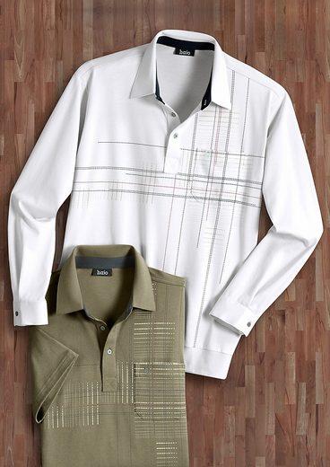 Hajo Poloshirt mit verstellbarer Kombimanschette