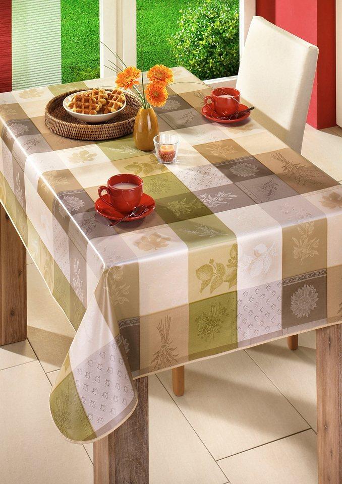 Tischdecke in natur-grün