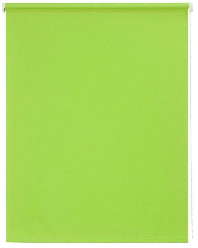 Seitenzugrollo, Sunlines, »Uni«, im Fixmaß, Lichtschutz (1 Stck.) in hellgrün