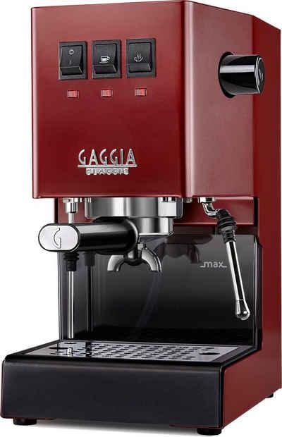 Gaggia Siebträgermaschine New Classic Edition Rot