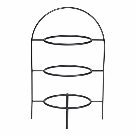 ASA SELECTION Etagere »à table ligne noir 3-stufig für 21 cm Teller«, Metall, ohne Teller