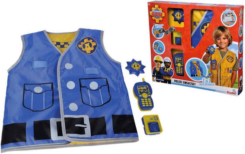 SIMBA Spielzeug-Schutzweste »Feuerwehrmann Sam, Polizei Einsatzset«, (Set, 4-tlg), mit Walkie-Talkie und Bodycam