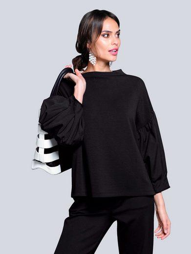 Alba Moda 3/4-Arm-Shirt mit kleinem Stehkragen