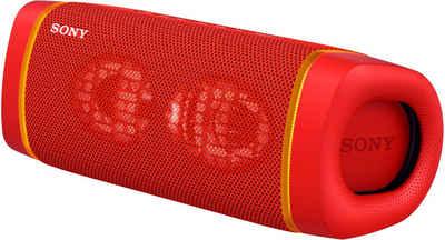 Sony SRS-XB33 tragbarer, kabelloser Bluetooth-Lautsprecher (Bluetooth, NFC, Mehrfarbige Lichtleiste, Lautsprecherbeleuchtung, wasserabweisend, Extra Bass)