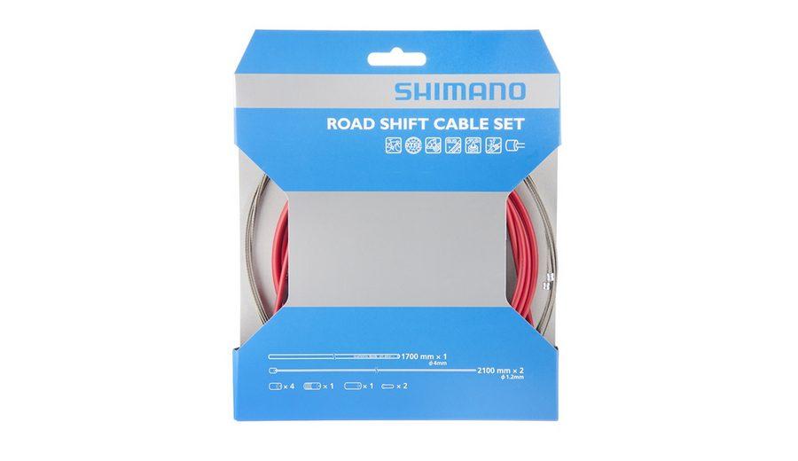 Shimano Schaltung »OT-41SP Schaltzugset Road SIL-TEC beschichtet«